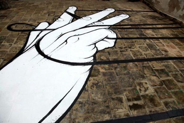 a) Graffiti de Santiago Morilla