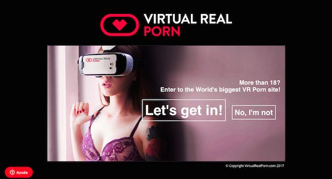 c)Portal https://virtualrealporn.com, desde donde pueden descargarse videos y experiencias interactivas para PlayStation VR, Oculus Rift, Gear VR, HTC Vive o Cardboard.